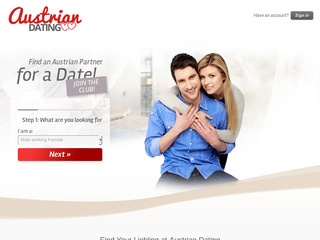 Austrian Dating UK Homepage Image