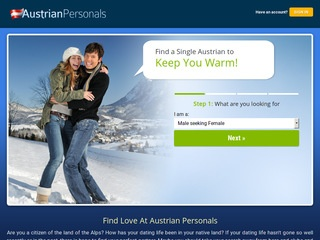 Austrian Personals Homepage Image